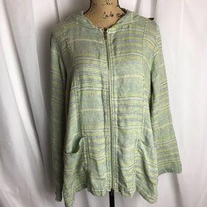Flax Linen Baja Jacket